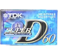 TDK D-60 Super Chrome Κασέτα  Χρωμίου Ήχου