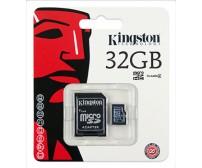 Kingston MicroSDHC 32GB Class 4 +SD Adapter SDC4/32GB
