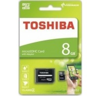 Toshiba M102 micro SDHC 8GB Class 4 with Adapter