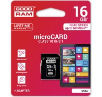 GoodRAM M1AA microSDHC 16GB U1 with Adapter