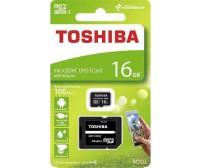 Micro SD Toshiba M203 16GB Class10 U1 με αντάπτορα