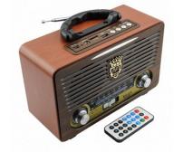Φορητό Retro Επαναφορτιζόμενο Ραδιόφωνο & Mp3 Player με Τηλεχειριστήριο FM/AM/SW3, BLUETOOTH USB, SD/ TF CARD, AUX - Meier M-115BT