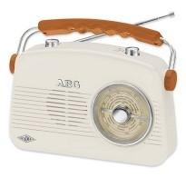 AEG Ρετρό φορητό ραδιόφωνο FM / AM, σε μπεζ χρώμα ρευματος και μπαταρίας