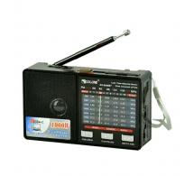 Ραδιοφωνο επαναφορτιζόμενο MP3 + Βluetooth + υποδοχή Usb + micro sd + φακός.