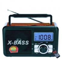 Ψηφιακό Ραδιόφωνο επαναφορτιζόμενο με υποδοχή για usb stick +sd card - FM Radio - XBass Speaker FP-920-RC