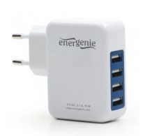 Universal USB charger, 3.1 A, white