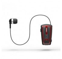 REMAX RB-T12 COLLAR CLIP VOICE PROMPT TELESCOPIC BLUETOOTH EARPHONE ΜΑΥΡΟ