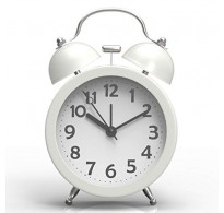 Ρολόι - ξυπνητήρι με αθόρυβο μηχανισμό άσπρο