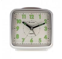 Ρολόι Επιτραπέζιο Ξυπνητήρι Αθόρυβο Ασημί JAGA S171