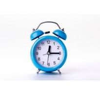 Ρολόι - ξυπνητήρι με αθόρυβο μηχανισμό μπλε