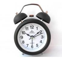 Ρολόι - ξυπνητήρι με αθόρυβο μηχανισμό μαύρο