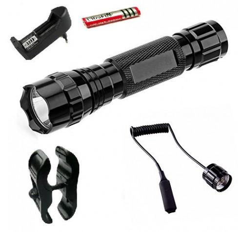 Φακός με καλώδιο και βάση όπλου remote pressure switch