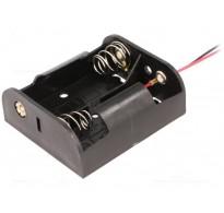 Θήκη μπαταρίας C LR14 x 2 με καλώδια