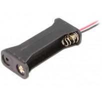 Θήκη μπαταρίας AAA R3 x 2 με καλώδια