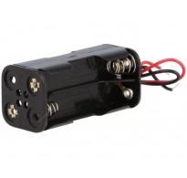 Θήκη μπαταρίας AAA x 4 με καλώδια