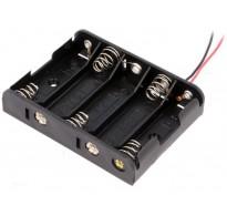 Θήκη μπαταρίας AA R6 x 5 με καλώδια