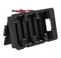 Θήκη μπαταρίας AA R6 x 6  με καλώδια